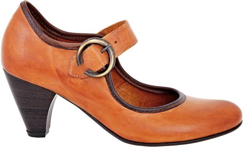 brązowe pantofle Wojas - wiosenna kolekcja