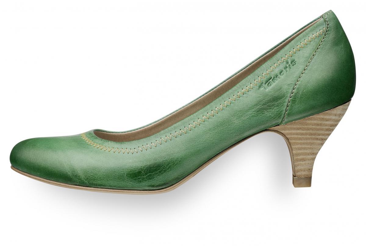 zielone pantofle Tamaris - moda 2011