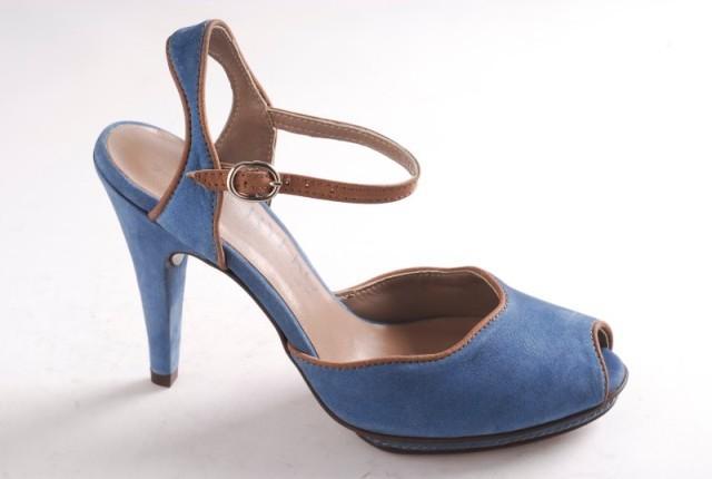 niebieskie pantofle Ryłko - wiosna/lato 2011
