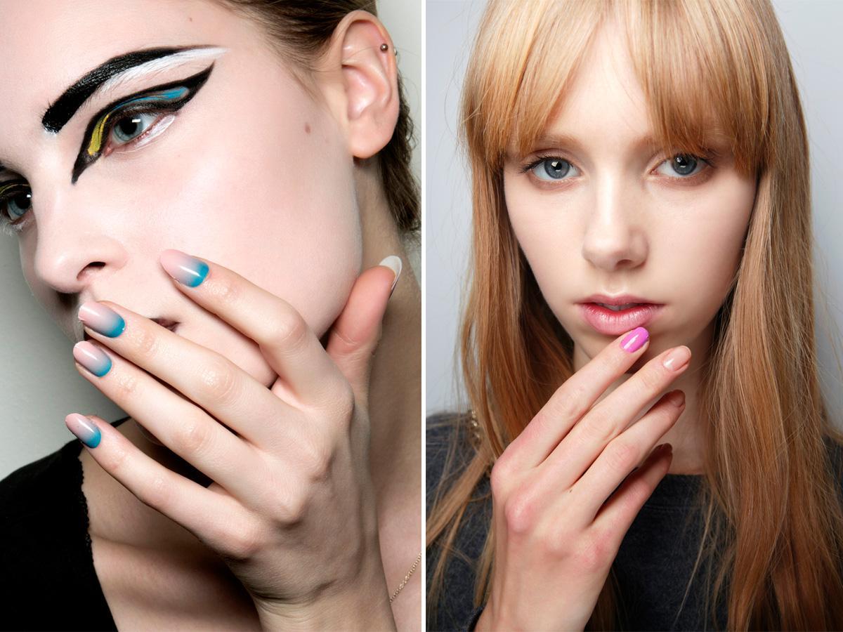 Pastelowe paznokcie efekt ombre