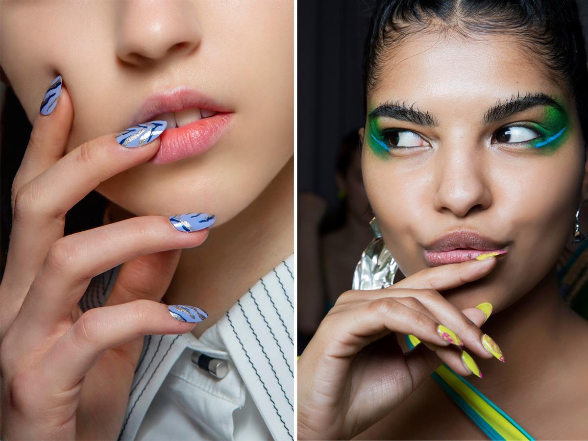 Pastelowe paznokcie artystyczne wzory