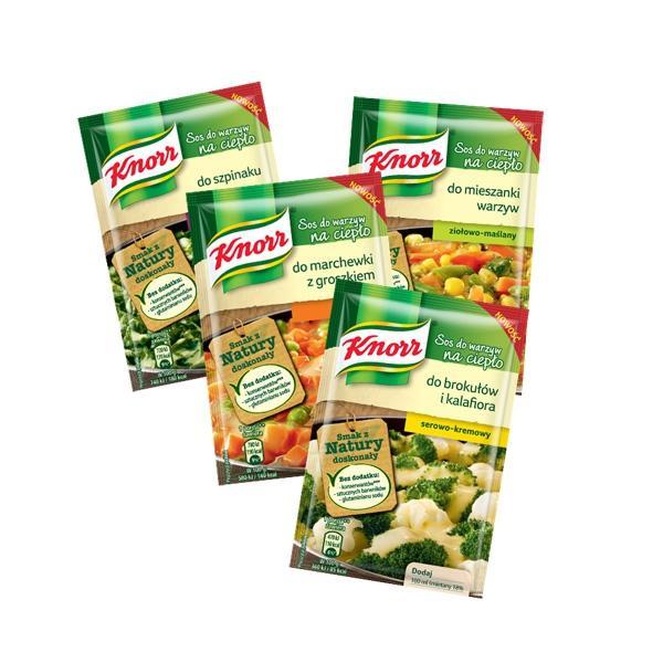 Nowe sosy do warzyw na ciepło od Knorr