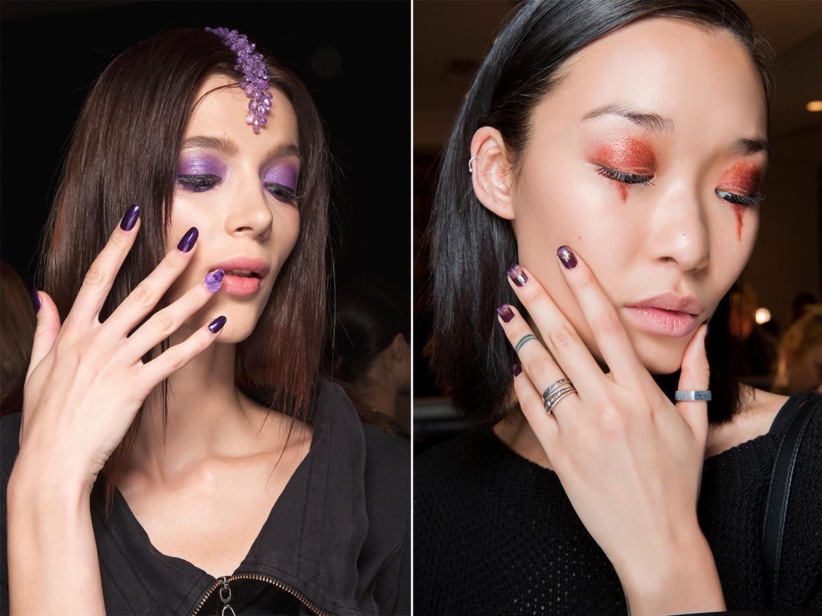 paznokcie na halloween modne kolory
