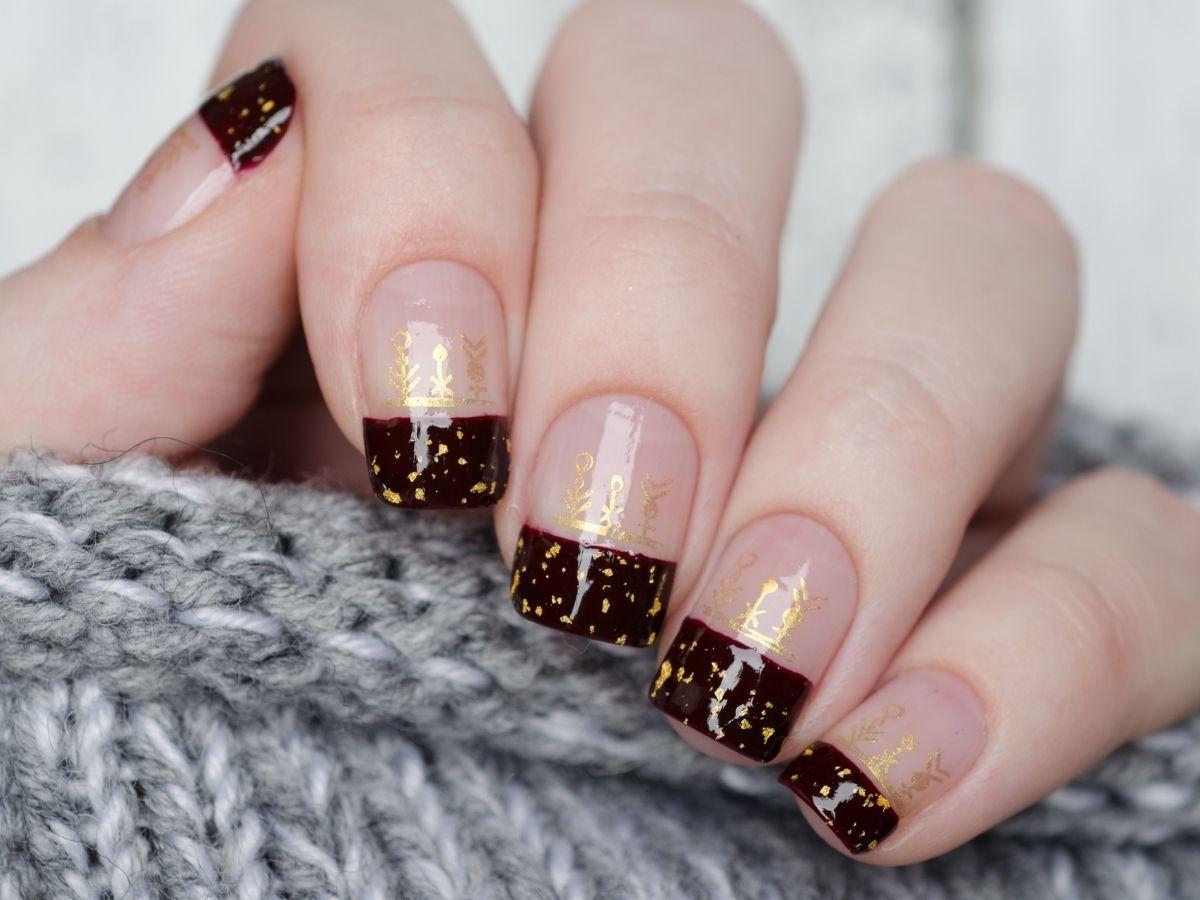 modne paznokcie na święta 2021 wzory