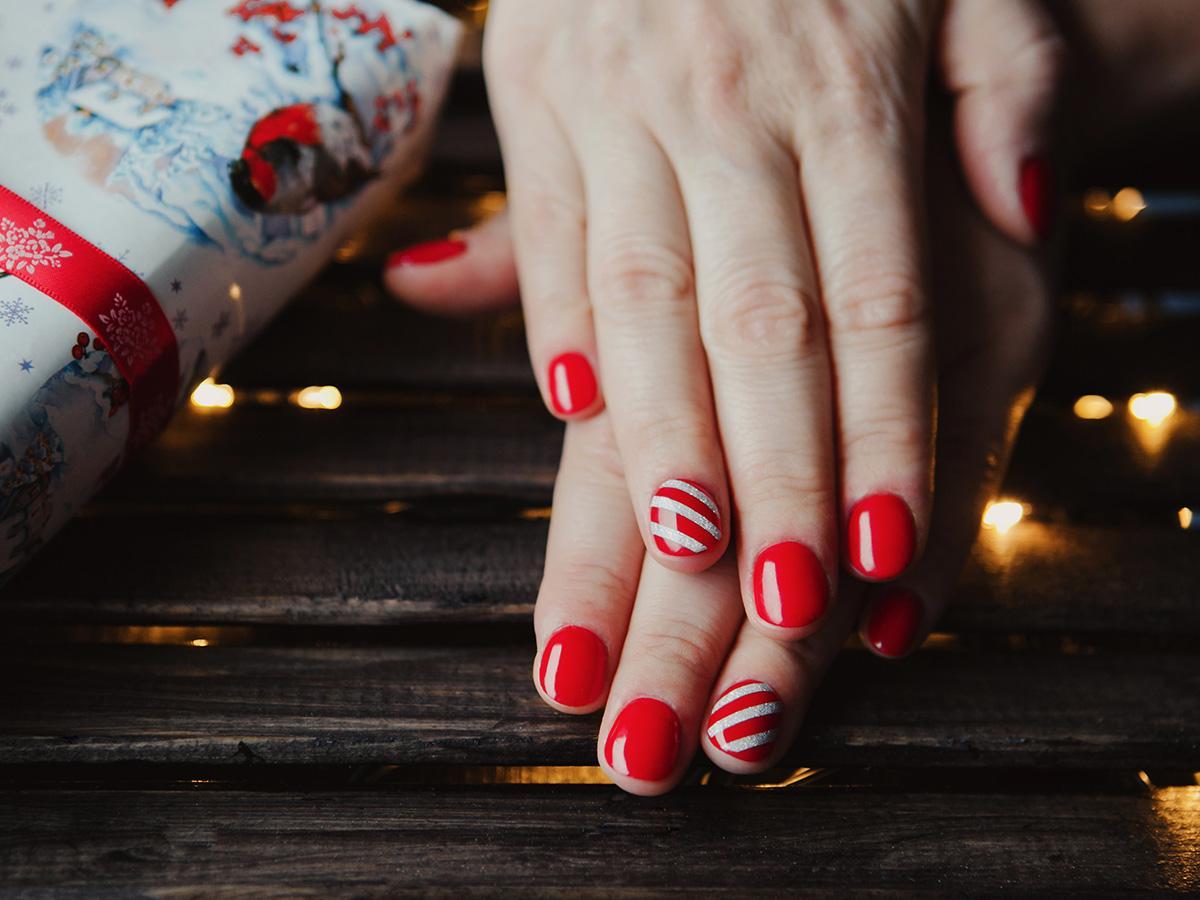 paznokcie na święta we wzory