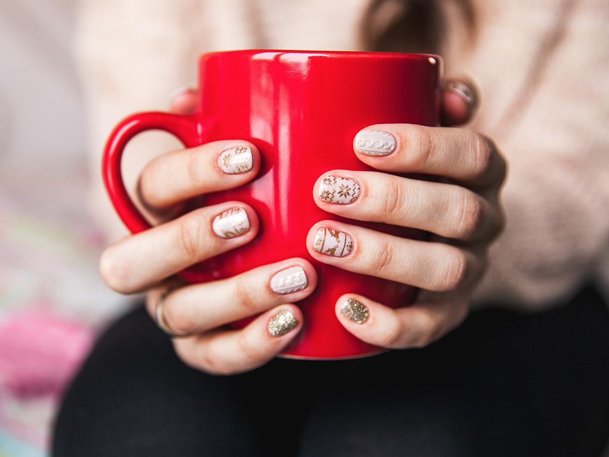 sweterkowe paznokcie na święta