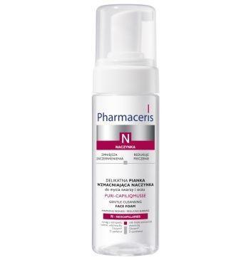 Delikatna pianka wzmacniająca naczynka do mycia twarzy i oczu; Pharmaceris N