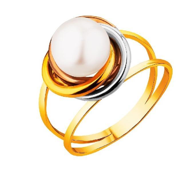 Pierścionek zaręczynowy Apart, złoty z perłą