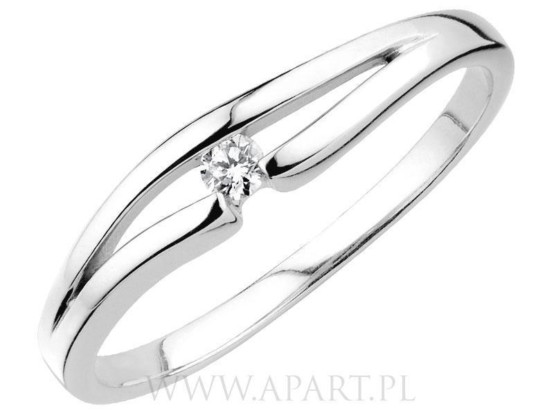 Pierścionki Zaręczynowe Apart Z Białego Złota Suknie ślubne I