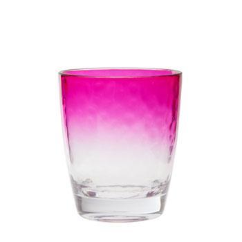 Modna szklanka do zimnych napojów w kolorze różowego gradientu -nowości na piknik