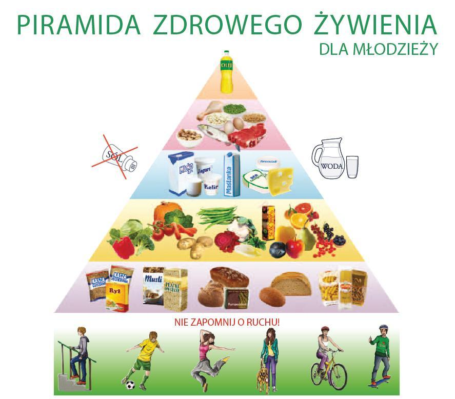 Znalezione obrazy dlazapytania piramida żywienia