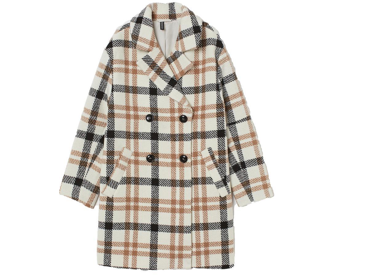 płaszcz w kratę H&M
