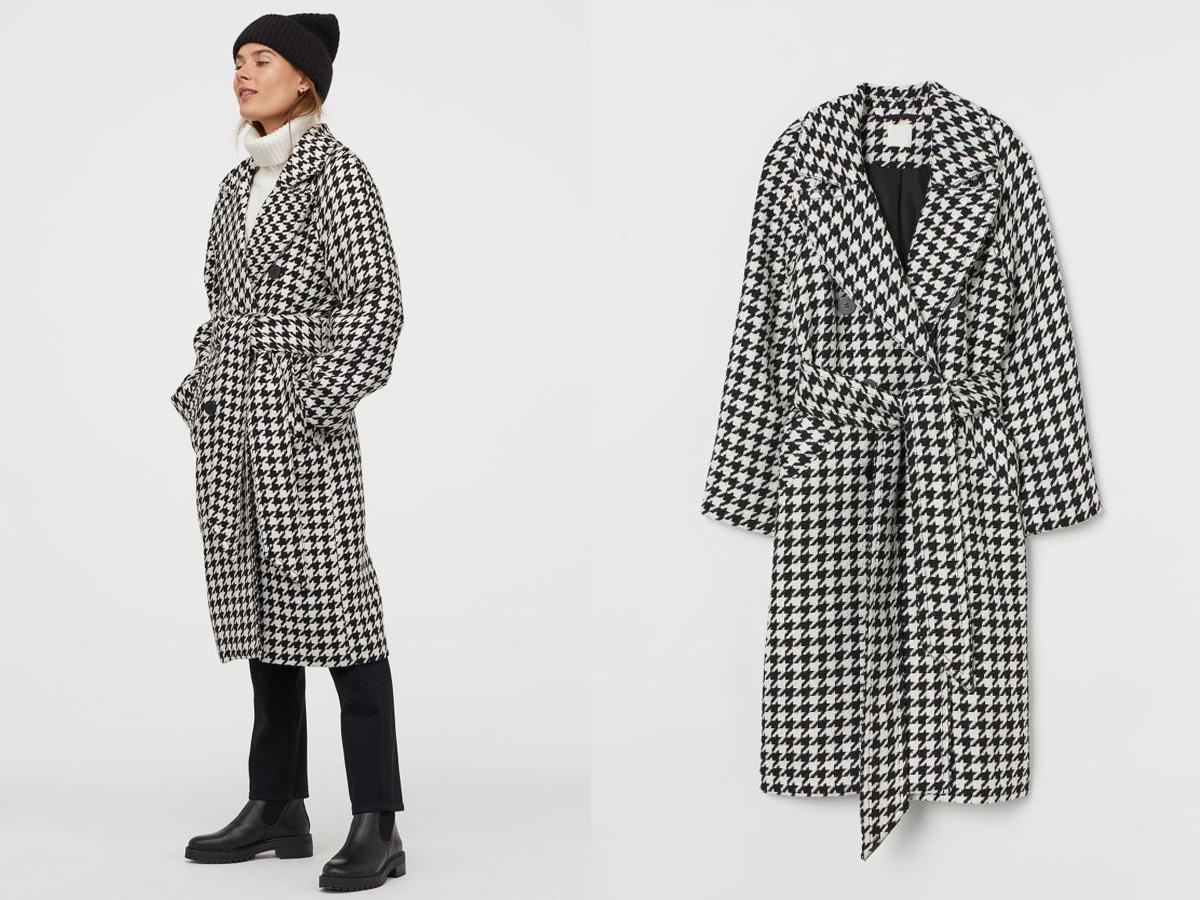 płaszcz w papitkę z H&M