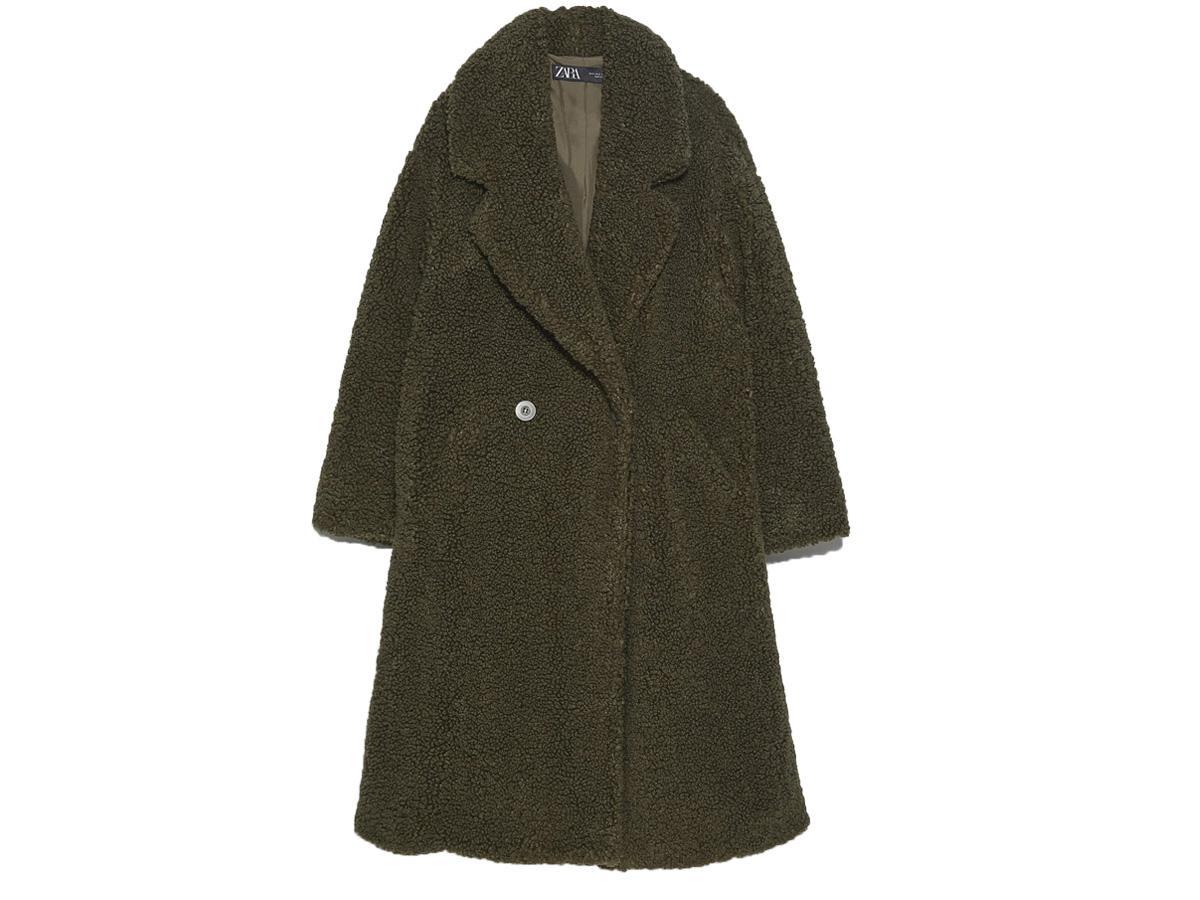 płaszcz z baranka Zara