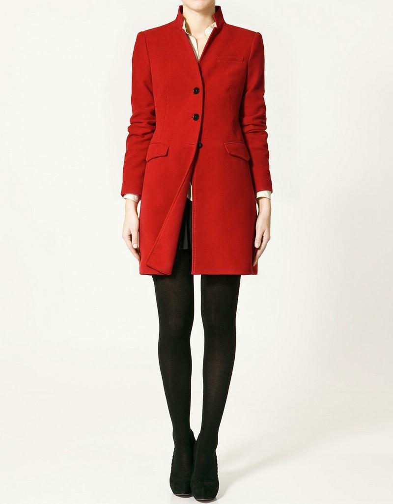 czerwony płaszcz ZARA - moda wiosna/lato