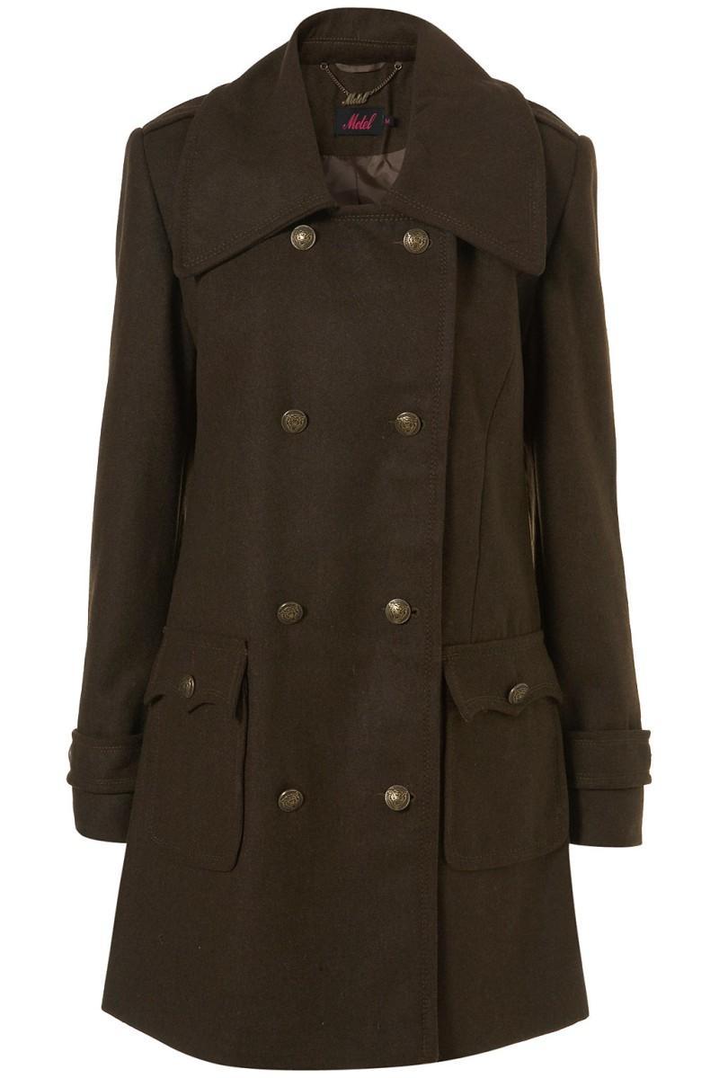 brązowy płaszcz Topshop - wiosna-lato 2011