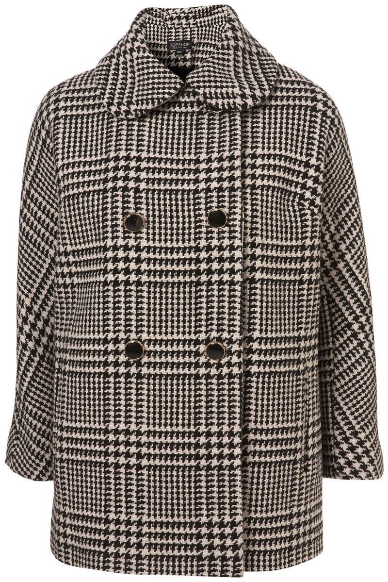 płaszcz Topshop w kratkę - trendy wiosna-lato