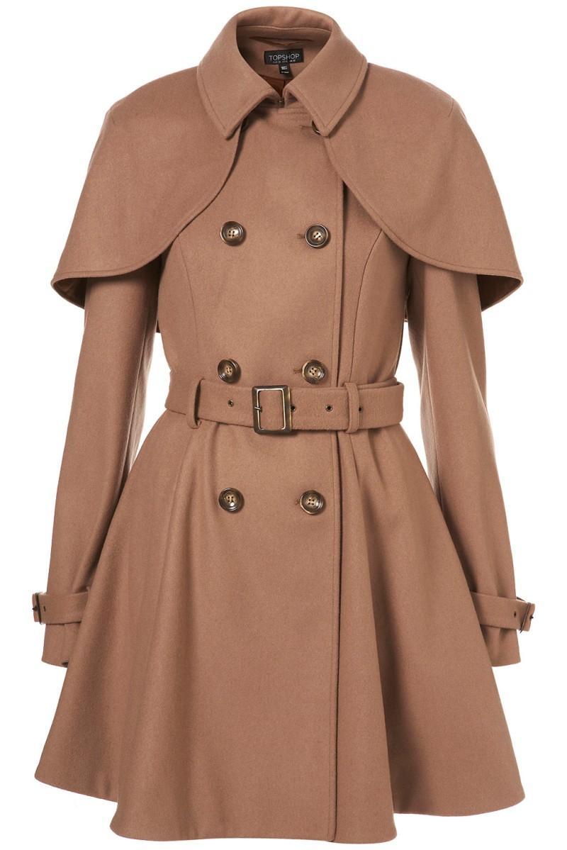 brązowy płaszcz Topshop - z kolekcji wiosna-lato 2011