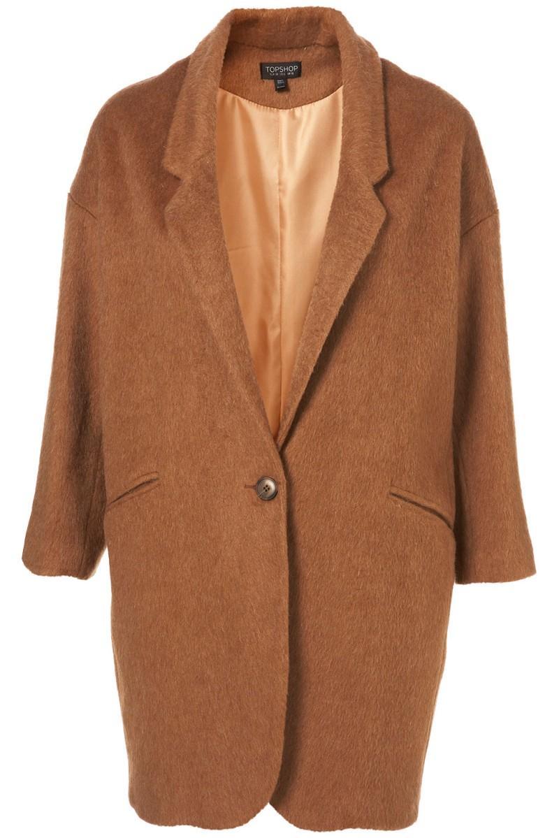brązowy płaszcz Topshop - moda wiosna/lato