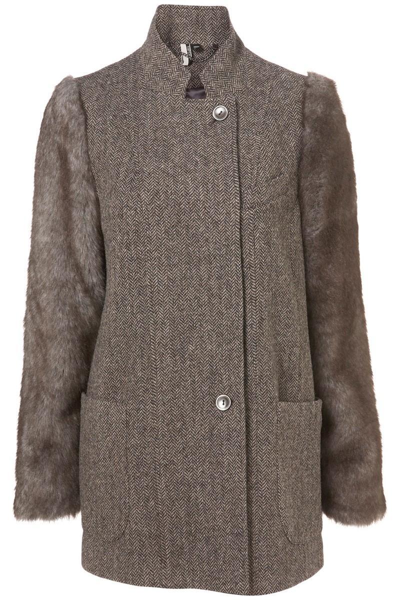 popielaty płaszcz Topshop - z kolekcji wiosna-lato 2011