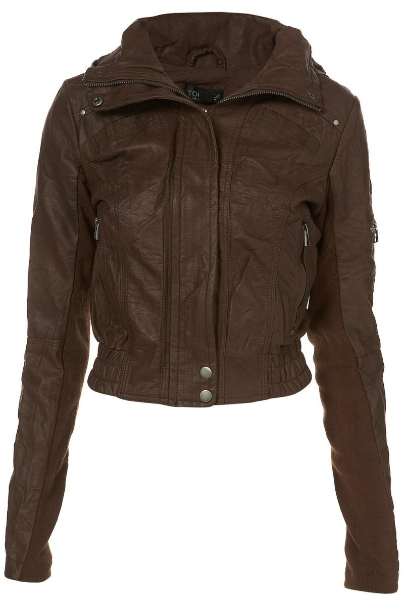 brązowa kurtka Topshop - z kolekcji wiosna-lato 2011