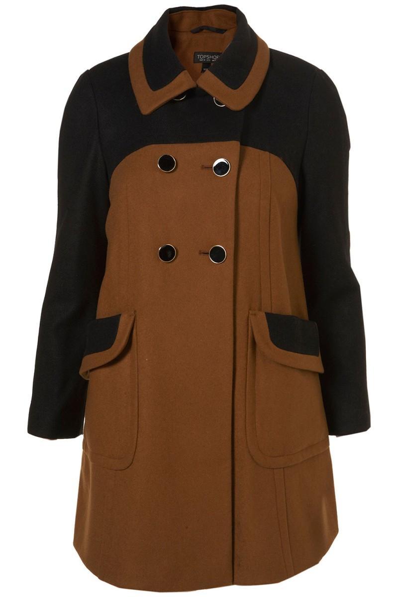 brązowy płaszcz Topshop - wiosenna kolekcja