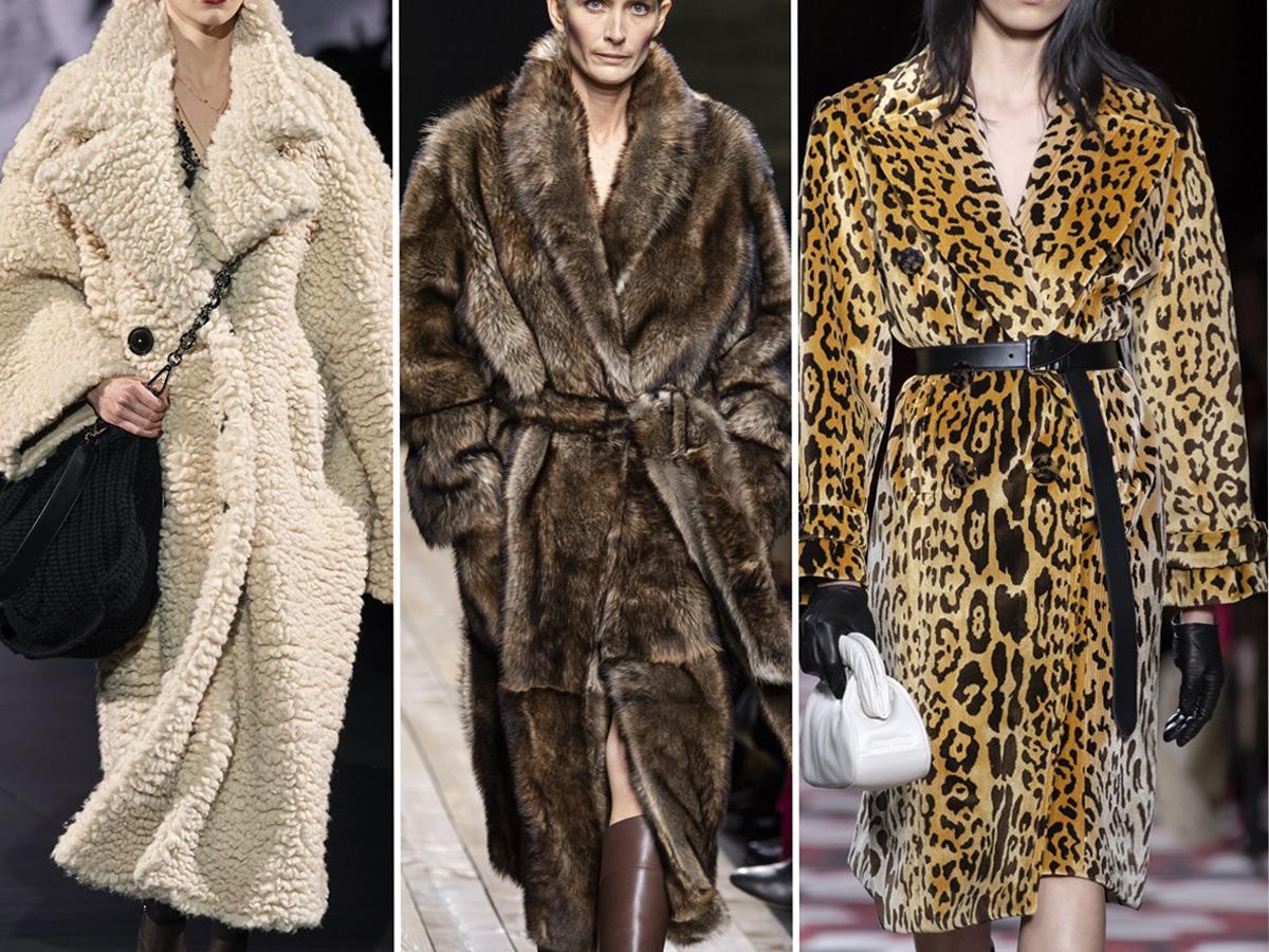płaszcze jesień 2020: futrzane