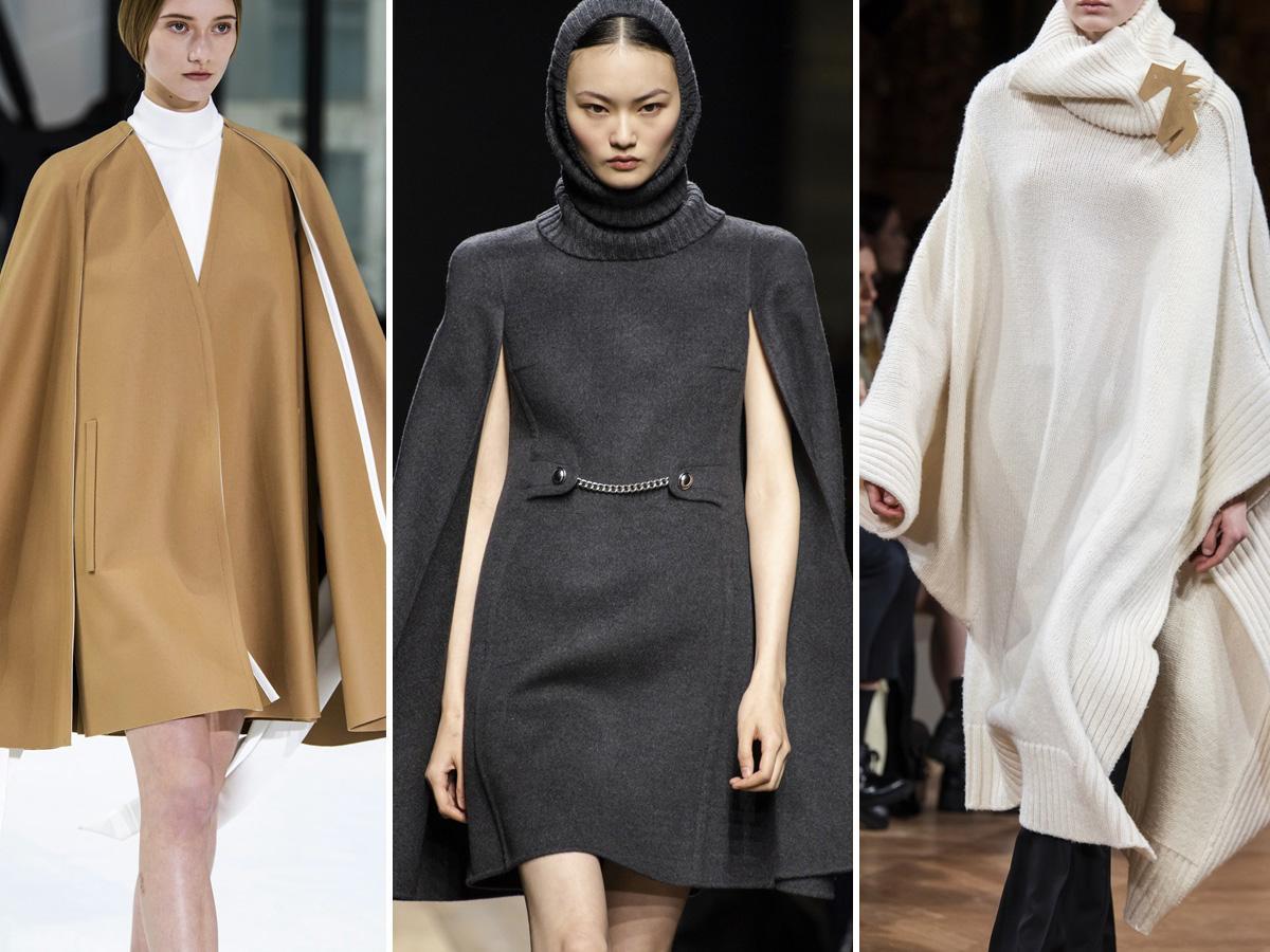 płaszcze jesień 2020: peleryny