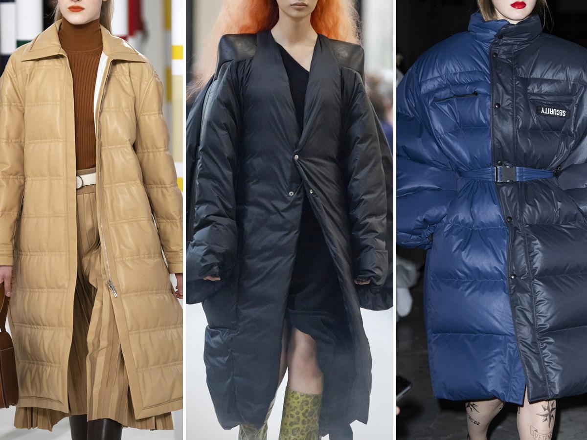 płaszcze jesień 2020: puchowe