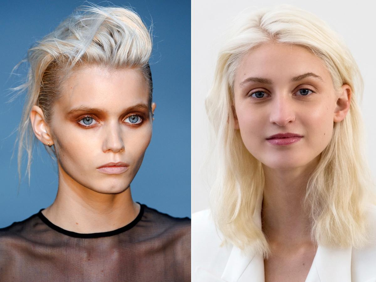 fryzury platynowy blond