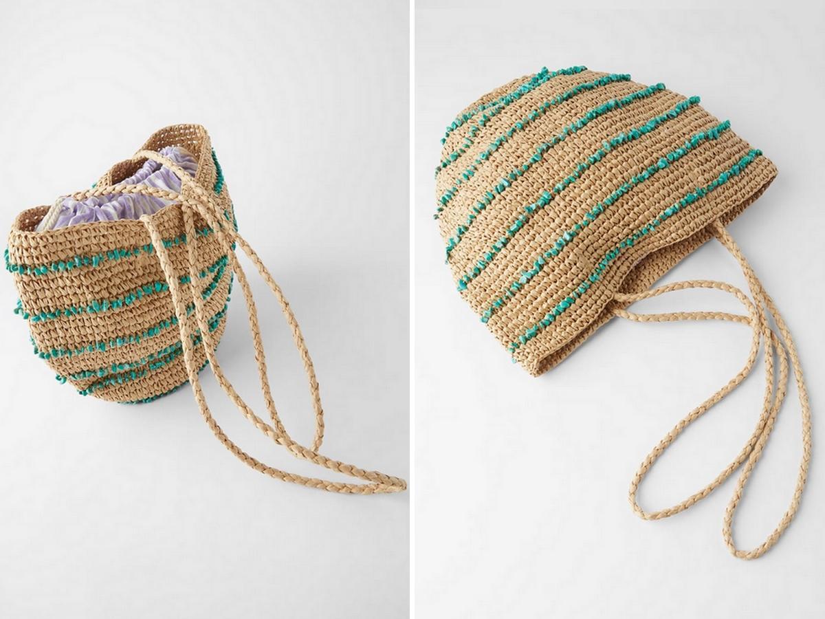 pleciona torebka z Zary