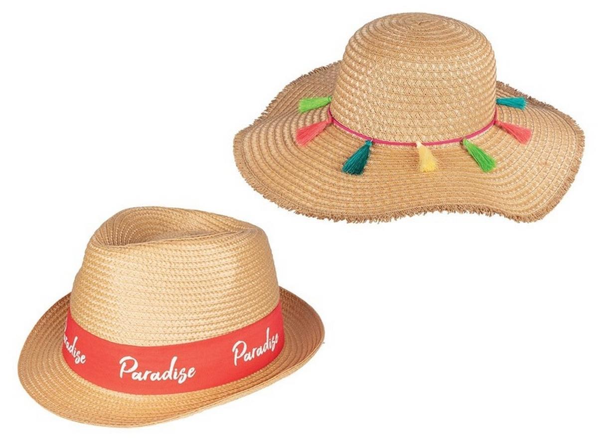 pleciony kapelusz z Lidla