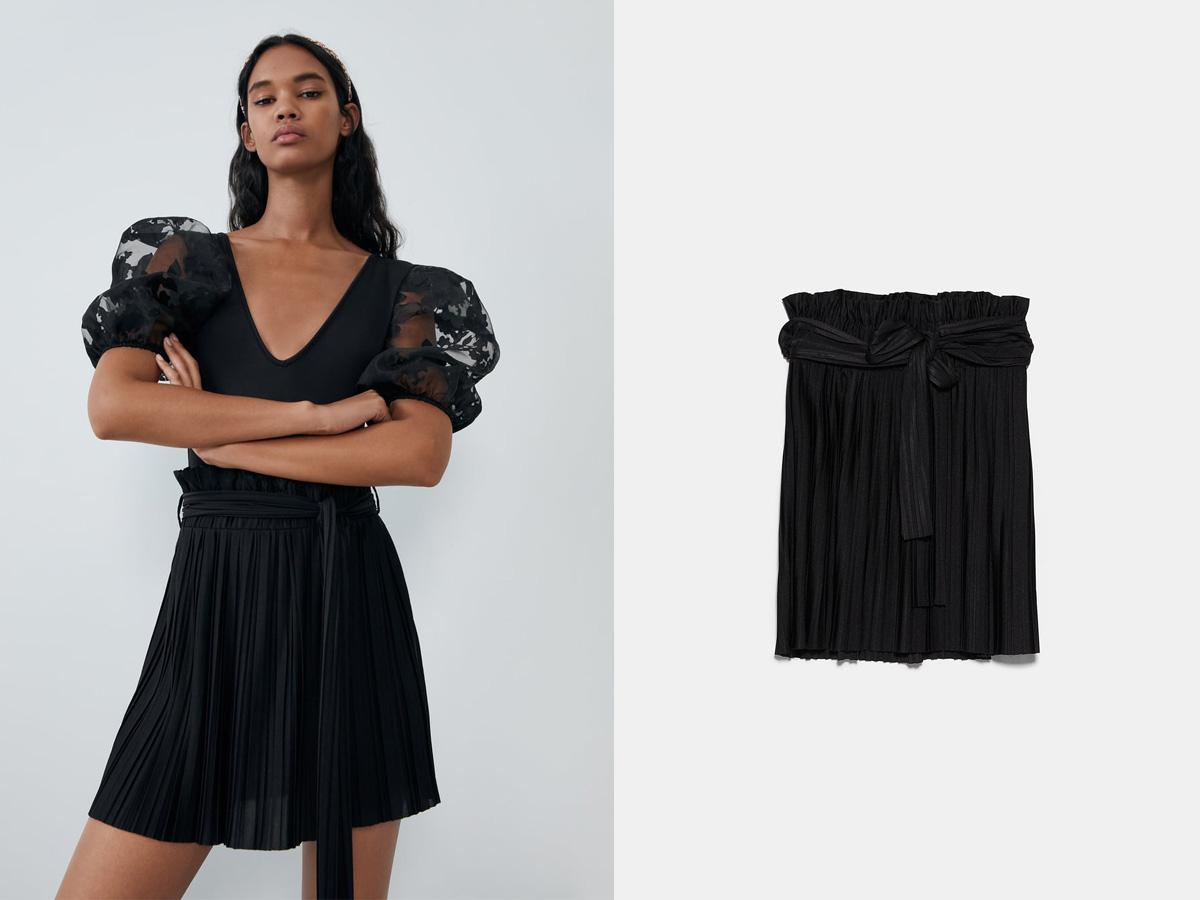 plisowana minispódniczka Zara