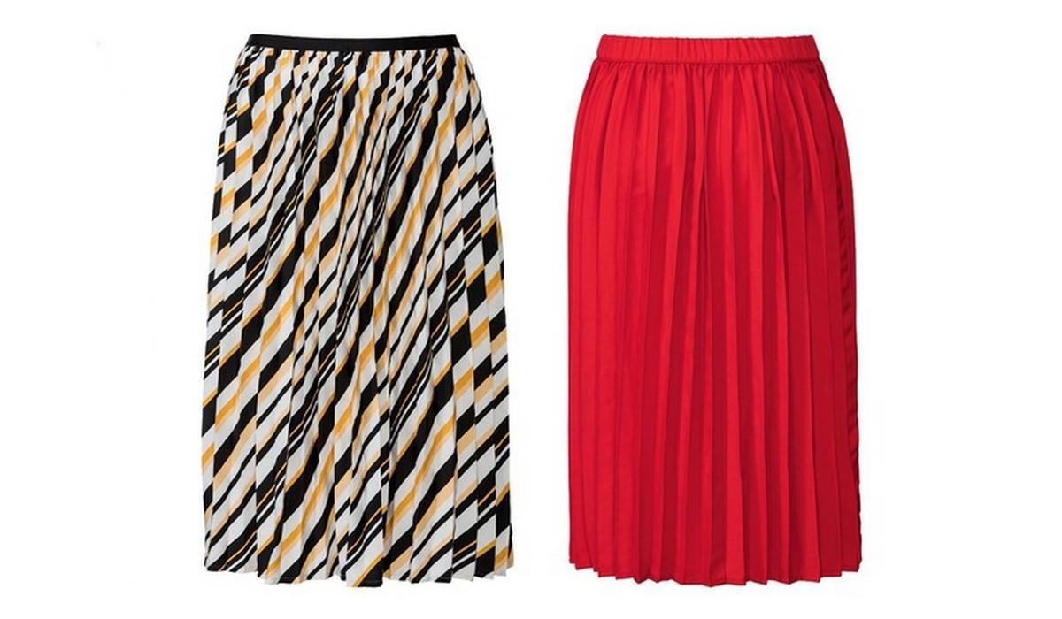 plisowane spódnice na lato z wyprzedaży