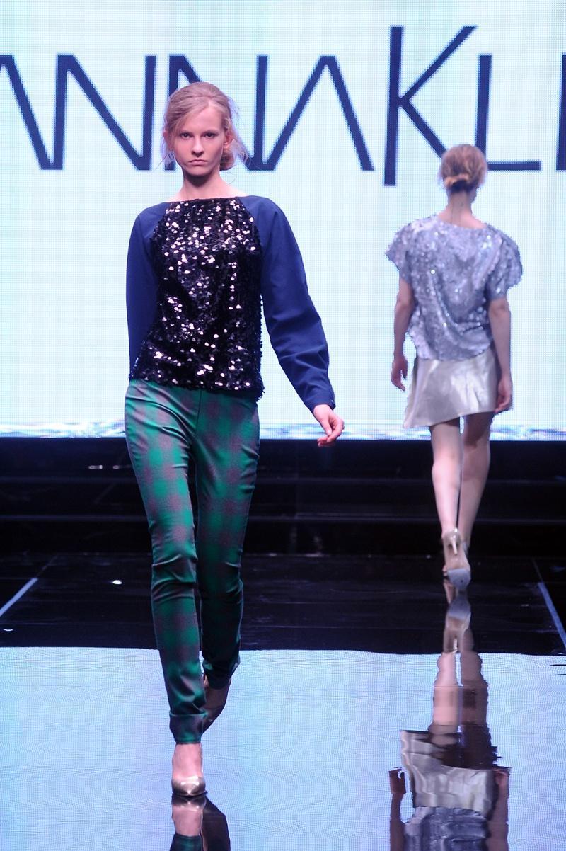 spodnie Joanna Klimas w kratkę - moda 2013