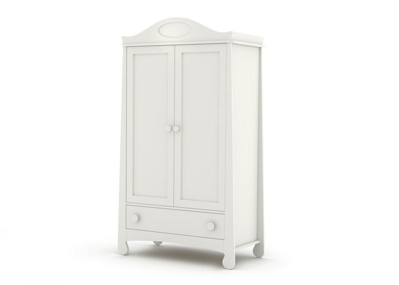 Urocza szafa w bieli  -pokój dla nastolatki
