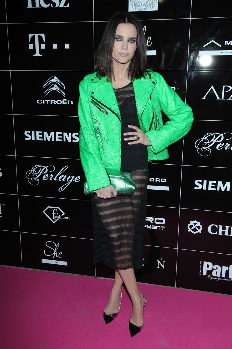 ramoneska w kolorze zielonym - Joanna Horodyńska