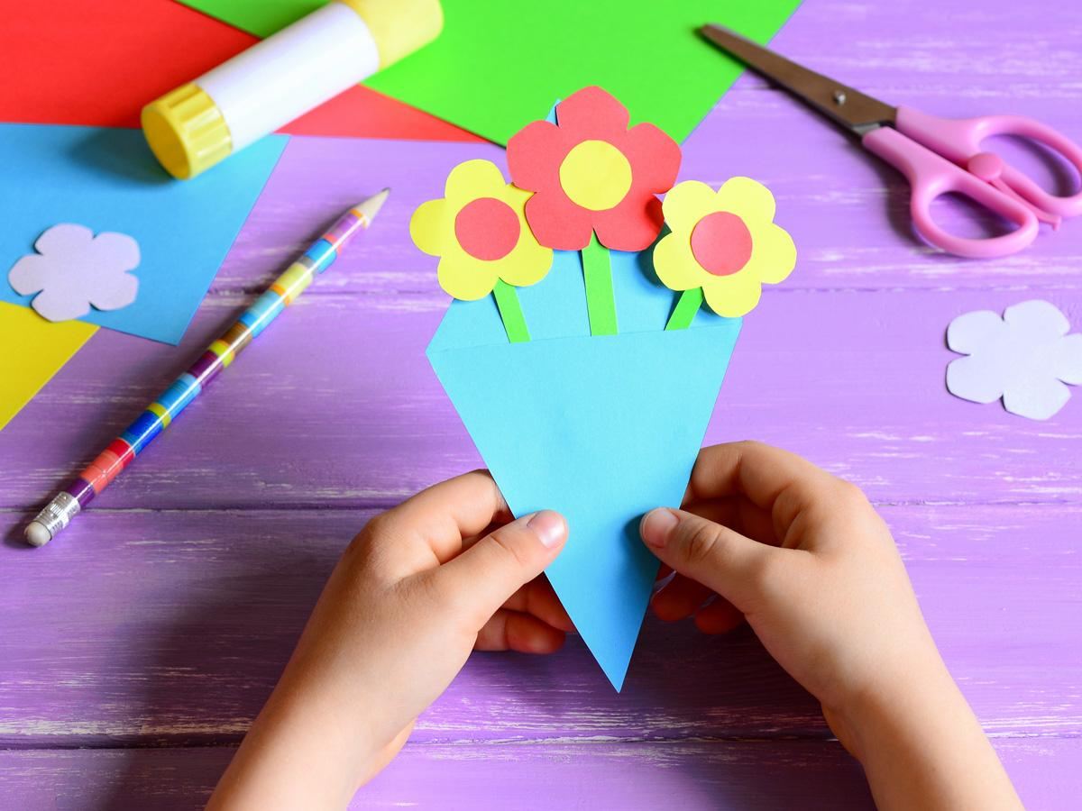 Laurka na Dzień Babci z papieru