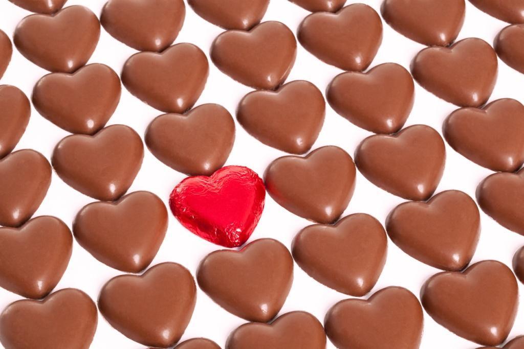 walentynki, czekoladki, serduszka