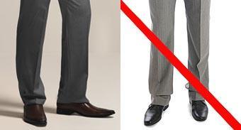 moda męska, długość spodni