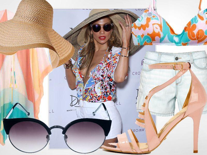Postaw na plażowy look w stylu Jennifer Lopez