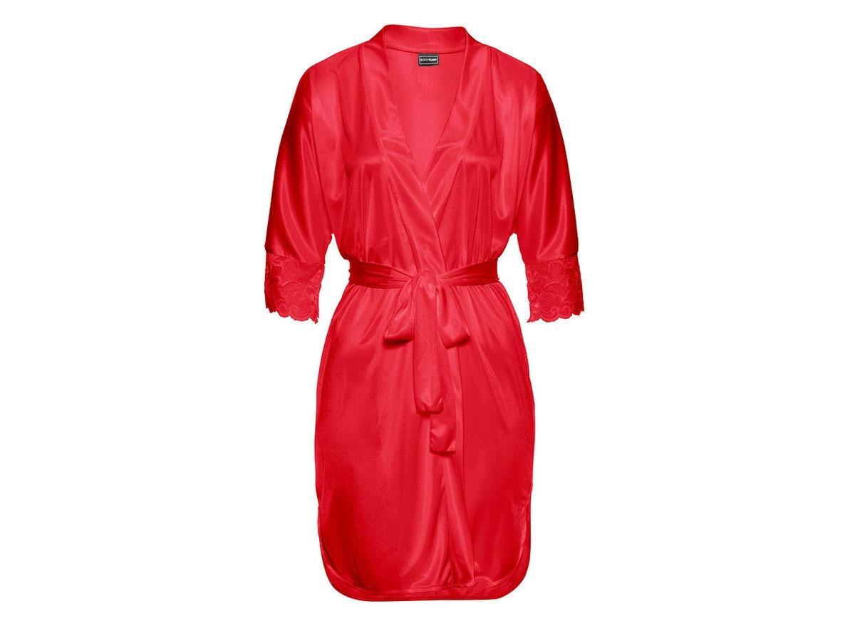 Czerwony szlafrok typu kimono, Bonprix, cena ok. 89,99 zł