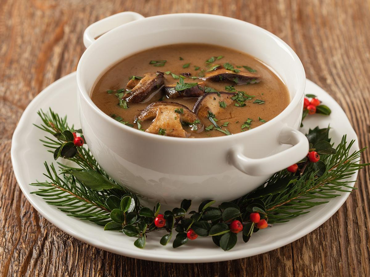 przepis na zupę grzybową na wigilię