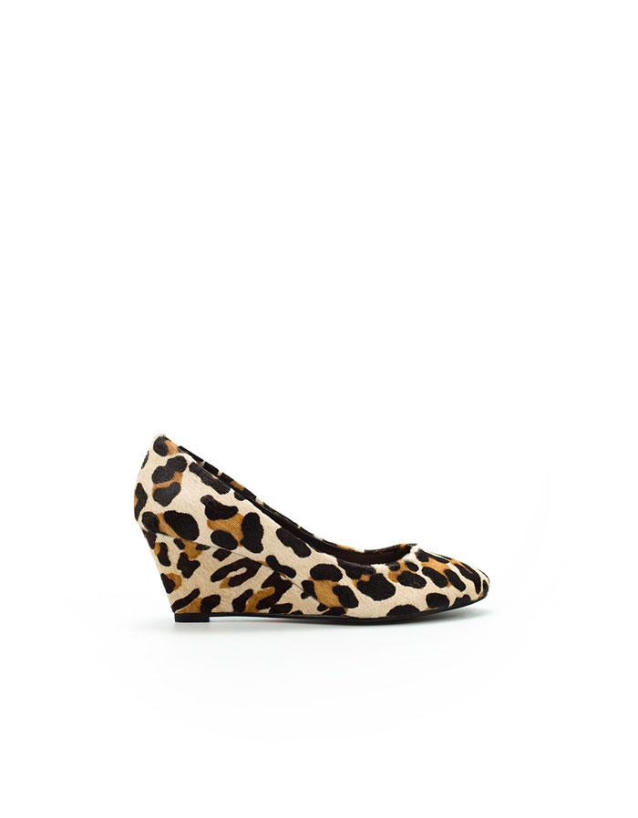 pantofle ZARA w panterkę na koturnie - wiosenna kolekcja