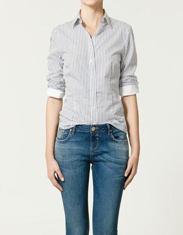 niebieskie jeansy ZARA - wiosenna kolekcja