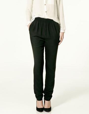 czarne spodnie ZARA - wiosenna kolekcja