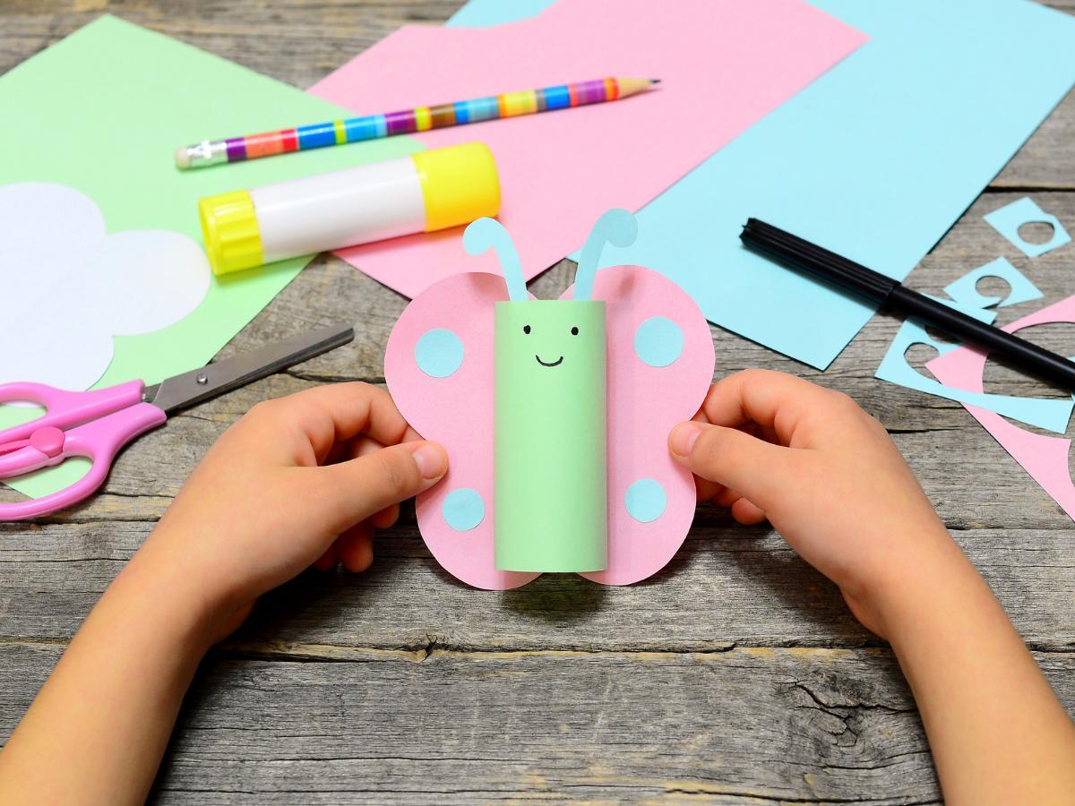 Paca plastyczna na Dzień Dziecka - motyl