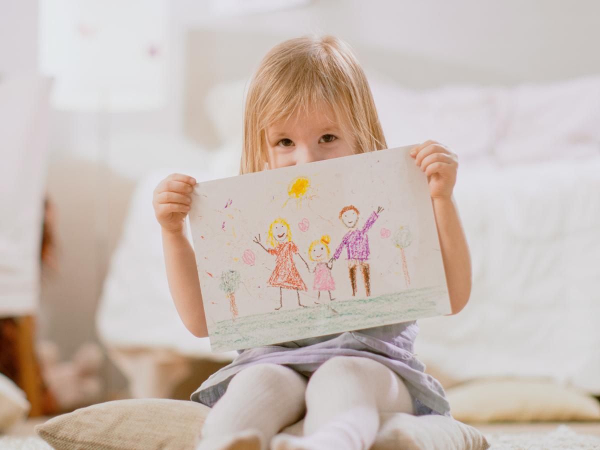 Praca plastyczna Dzień Dziecka - uśmiech