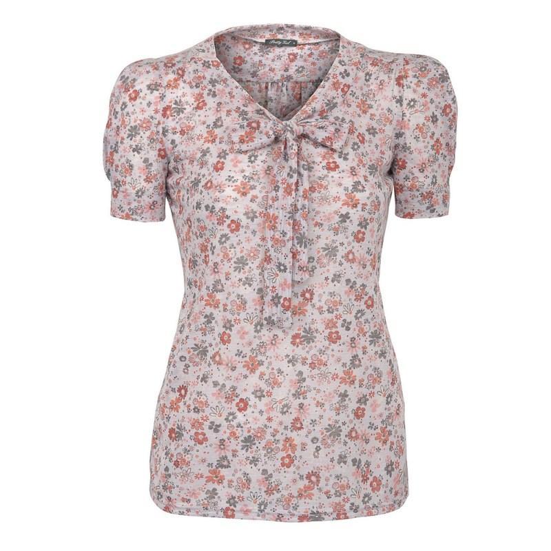 różowa bluzka Pretty Girl w kwiaty - z kolekcji wiosna-lato 2011