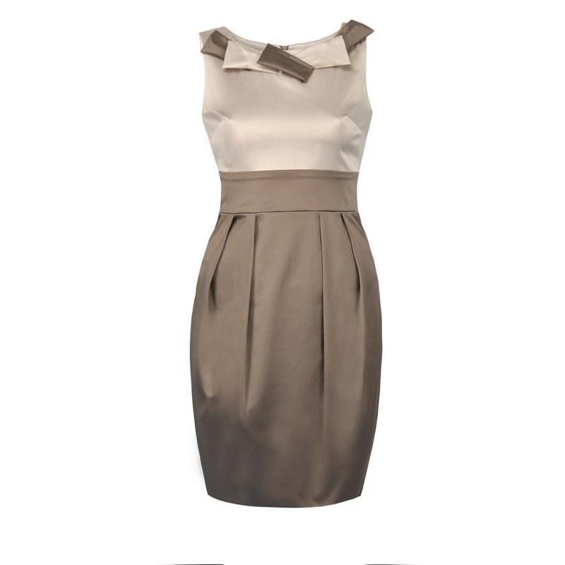 brązowa sukienka Pretty Girl - wiosna 2011